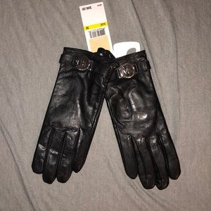 MICHAEL Michael Kors Accessories - Michael Kors Black Leather Gloves